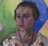 А. В. Лентулов. Портрет Ниты (Анны) Сведомской. 1916 (фрагмент).